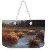 Ever Flowing Alaskan Creek In Autumn Weekender Tote Bag