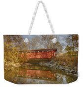 Everett Rd. Covered Bridge In Fall Weekender Tote Bag