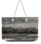 Everglades Panorama Bw Weekender Tote Bag