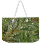 Evergreen Covered In Ice Weekender Tote Bag