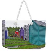 Every Garden Needs A Shed And Lawn Two In Les Jardins De Metis/reford Gardens Near Grand Metis-qc Weekender Tote Bag