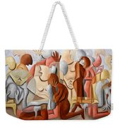 Every Knee Shall Bend Every Mouth Shall Confess Jesus Is Lord Weekender Tote Bag