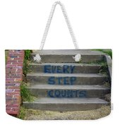 Every Step Counts Weekender Tote Bag