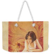 Everyday Angel With Flower Weekender Tote Bag