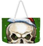 Evil Christmas Skull Weekender Tote Bag