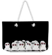 Evil White Ghosts In A Crowd With Black Space Weekender Tote Bag