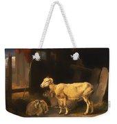 Ewe And Lambs Weekender Tote Bag