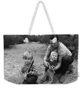 Ex Green Beret Barry Sadler In Target Practice With Son's Thor And Baron Tucson Arizona 1971 Weekender Tote Bag