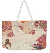 Excess Of Wine And Women Weekender Tote Bag by Joseph Kuhn-Regnier