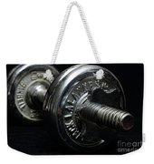 Exercise  Vintage Chrome Weights Weekender Tote Bag