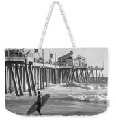 Existential Surfing At Huntington Beach Weekender Tote Bag