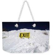 Exit Weekender Tote Bag by Fiona Kennard