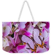 Exotic Butterfly On Hydrangea Weekender Tote Bag