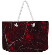 Expectations Red  Weekender Tote Bag