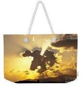 Exploding Cloud Weekender Tote Bag