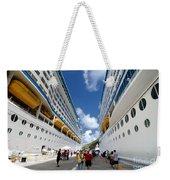 Explorer Of The Seas And Adventure Of The Seas Weekender Tote Bag