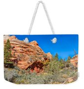 Exploring The Upper Plateau Of Zion Weekender Tote Bag