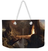 Expulsion. Moon And Firelight Weekender Tote Bag