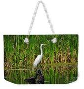 Exquisite Egret Weekender Tote Bag