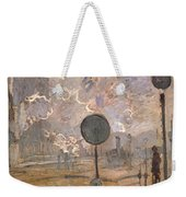 Exterior Of Saint-lazare Station Weekender Tote Bag
