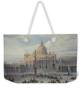 Exterior Of St Peters In Rome From The Piazza Weekender Tote Bag