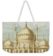 Exterior Of The Saloon From Views Of The Royal Pavilion Weekender Tote Bag by John Nash