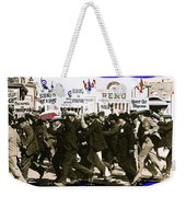 Extras Racing To The Boxing Arena The Great White Hope Set Globe Arizona 1969-2009 Weekender Tote Bag