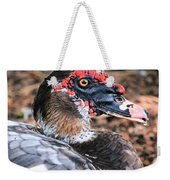 Eye Of The Muscovy Duck Weekender Tote Bag