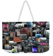 Eyes Down From The 103rd Floor Collage Weekender Tote Bag