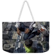 Eyes Down From The 103rd Floor Little Dude With No Fear Weekender Tote Bag