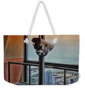 Eyes Down From The 103rd Floor Telescope Looking South Weekender Tote Bag
