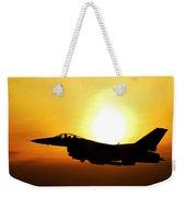 F-16 Fighting Falcon Flying Over Korea Weekender Tote Bag