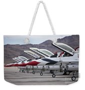 F-16c Thunderbirds On The Ramp Weekender Tote Bag by Terry Moore