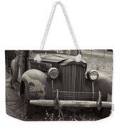 Fabulous Vintage Car Black And White Weekender Tote Bag