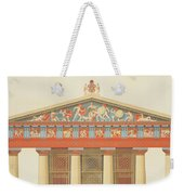 Facade Of The Temple Of Jupiter Weekender Tote Bag