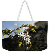 Facades And Fruit Trees - The Church And The Plum Weekender Tote Bag