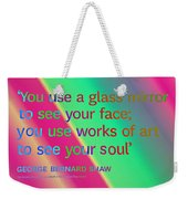 Face And Soul Definitions Weekender Tote Bag