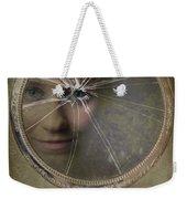 Face In Broken Mirror Weekender Tote Bag