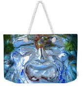 Face In Glass Weekender Tote Bag