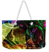 Face In The Rock Moon Glow And Night Vision Weekender Tote Bag