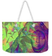 Face In The Rock With Maple Leaves Weekender Tote Bag