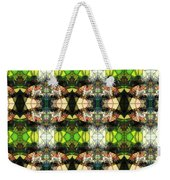 Face In The Stained Glass Tiled Weekender Tote Bag