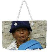 Face Of Ecuador Woman At Cotacachi Weekender Tote Bag