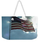 Face Of Jesus In Cloud W Flag 9 11 Remembered  Weekender Tote Bag