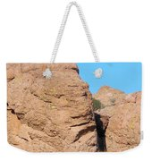 Face Of The Monolith Weekender Tote Bag