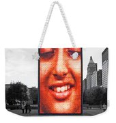 Face On Michigan Weekender Tote Bag