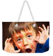 Face Paint Weekender Tote Bag by Tom Gowanlock