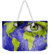 Face The World Map Weekender Tote Bag