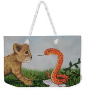 Face To Face Were A Lion And Snake Weekender Tote Bag