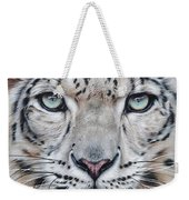 Faces Of The Wild - Snow Leopard Weekender Tote Bag